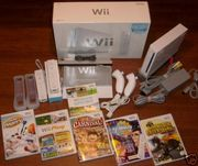 Nintendo wii console(2009 version) + 40 games