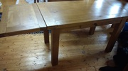 Solid Oak table with extensions